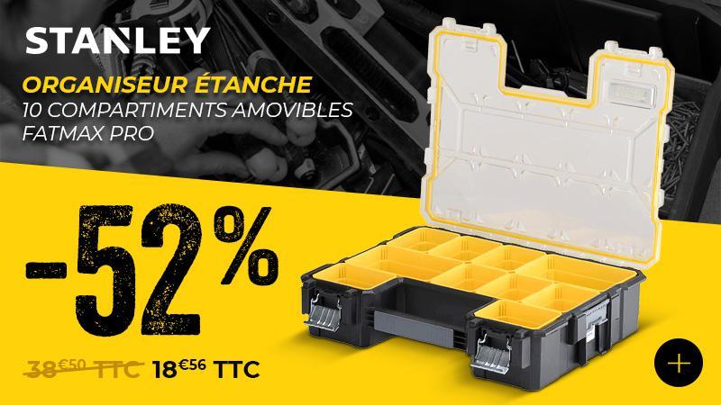 Promotion organiseur étanche -10 compartiments amovibles Fatmax Pro STANLEY